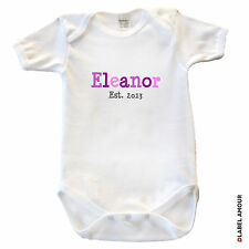 Personalised Baby Gro Bodysuit Vest Grow Girl Boy Gift Shower Clothes - Madison