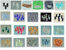 100PCS variety of color #5601 CUBE CRYSTAL HOLE BEADS 4MM