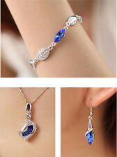 Lady's Elegent Crystal Angel's Eye For Wedding Party Necklace/Bracelet/Earring