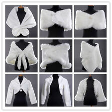 Elegant New Faux Fur Wedding Bridal Wrap Shawl Jacket Coat Bolero 11-Style Cheap