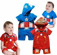 Baby Boy Captain America/IronMan Christmas Fancy Dress Party Costume Outfit