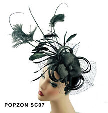 Top Seller Sinamay Cocktail Hat Hair Comb Fascinator 3 Colors For Pick