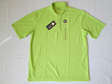 New Mens L/XL/2XL PGA TOUR UPF 15 Performance Golf/Polo Shirt Bright Lime $50