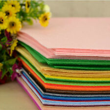 "6"" 12"" Colour PACK Acrylic Blend Felt Non-woven Fabric SQUARES 10 squares DIY"