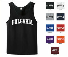 Country of Bulgaria College Letter Tank Top Jersey T-shirt