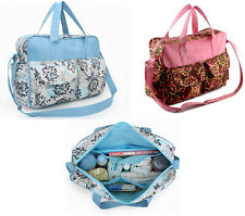 Fashionable Floral Case Multi Use Baby Diaper Nappy Mommy Bag  handbag tote bag