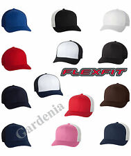 Flexfit 6511  Trucker Cap Fitted Mesh Back Hat One Size New