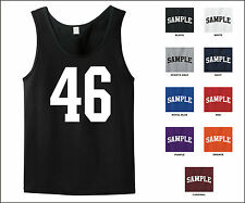 Number 46 Forty Six Sports Number Jersey Tank Top Front Print