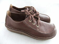 NEW CLARKS MINSTER MOOR  BROWN LEATHER CASUAL SHOES