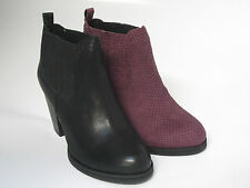 Ladies Clarks Smart Ankle Boots Malm Jive Black or Aubergine Leather Pull On