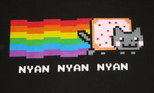 Nyan Cat Adult T-Shirt Pop-Tart Cat with Rainbow Trail BRAND NEW WITH TAGS