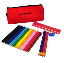 Personalised Pencil Case Add Name Bag & Contents Kids Back To School Gift Idea 1