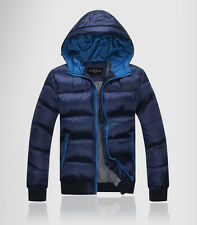 Hot new men's winter fashion Casual hooded zipper down jacket coat 5 size MWM119