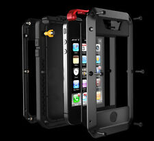 Aluminum Metal Cases Gorilla Glass for iPhone 4 4s 5 5G Water/Shock/Dust Proof