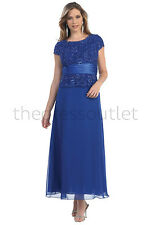 Stunning Mother of the Bride Plus Size Groom Elegant Wedding Formal Gown Dress