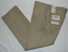 PERRY ELLIS TAILORED FIT COTTON RETAINS SHAPE BEIGE TWILL CHINO PANTS MEN 32 30