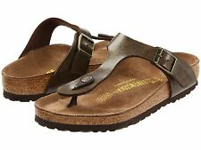 Women's Birkenstock Gizeh Golden Brown Birko-Flor Reg