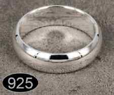 925 Silver plated Round Smooth Wedding  Engagement 6mm Band Ring Promise Ring
