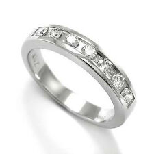 7 Diamond Channel Set 14K Gold Wedding Band Ring - Shipping is Free to U.S.A.