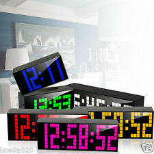 Digital Large Big Jumbo LED Countdown Wall Alarm Clock Desk Clock Snooze Timer