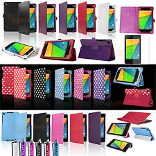 PU Leather Stand Case Cover for 2013 Nexus 7 2 Gen 2nd Generation +Stylus +Film