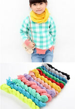 NEW Unisex child baby girl's boy's candy solid colored wrinkle Scarf  Wraps