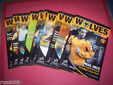 2005/06 - WOLVES HOME PROGRAMMES CHOOSE FROM