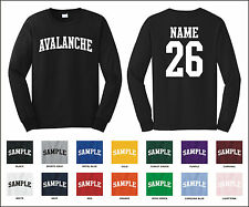 Avalanche Custom Personalized Name & Number Long Sleeve Jersey T-shirt