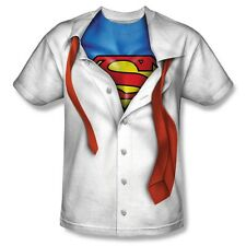 Superman Under Clark Kent Costume All Over Print Poly Tee Shirt Adult S-3XL