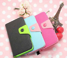 3Colors Wallet Card Holder Leather Case Cover For LG Nokia Samsung Mobile phones