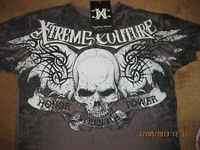 "Xtreme Couture by Affliction 2-Sided T-Shirt  ""Quiet Storm""  MMA, Fight Club,"