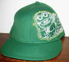 OSCAR Sesame Street Fitted Baseball Style Hat Cap OSCAR EMBROIDERED HAT