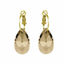 Pure Crystal Drop Earrings Made with SWAROVSKI® Crystals on a Hoop