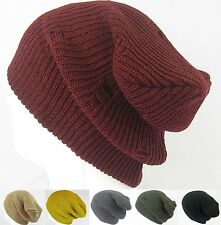 Women Men Acrylic Crochet Knit Oversized Baggy Ski Beanie Skull Hats -US Seller-