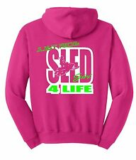 JUST RIDE SLED GIRL 4 LIFE HOODIE SHIRT SNOW MOBILE SKI DOO ARCTIC CAT