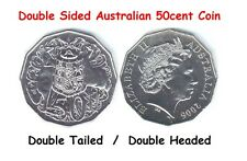 DOUBLE SIDED AUSTRALIAN 50 CENT COIN [HEADS / TAILS]