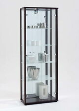 Lockable Double Glass Display Cabinets - Different colours