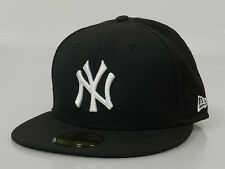 New Era Men's Fitted Hat 59FIFTY MLB New York Yankees Black White