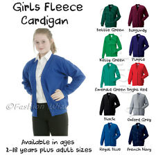 Girls School Cardigan Sweatshirt (Uniform) Age 3 4 5 6 7 8 9 10 11 12 13