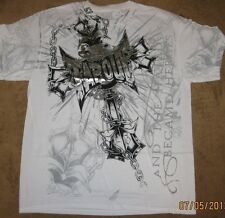 """Tapout XXL 2XL White Foil Tee """"And the Hated Became Heroes"""" T-Shirt MMA Fight"""