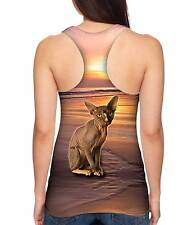 Yizzam- Sphynx Cat Beach Sunset - New Ladies Women Racerback Xs S M L Xl 2Xl 3X
