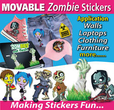 ZOMBIE Sticker-Wall Stickers-Laptop Stickers-Bumper Stickers-TOTALLY MOVABLE