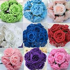 100 Real Touch Roses~Wedding Bridal Bouquet Artificial Foam Flower Wholesale 3""