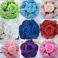 """100 Real Touch PE Roses~Wedding Bouquet Home Party Decor Artificial Flower 3"""""""