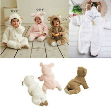 Baby Boys Girls Hoodie Romper Fleece Animal Play suit Outfit Costume Snowsuit