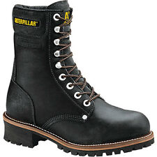 "Caterpillar Logger 9"" Steel Toe - Men's Work Boot - Black"