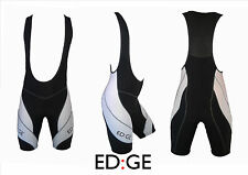New ED:GE™ Padded Lycra Cycling Bike Bib Compression Shorts BLACK/ WHITE M/L/XL