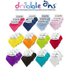 Dribble Ons Bandana Bib Boys/Girls 3 Pack All Colours - Choose your Own Colours!