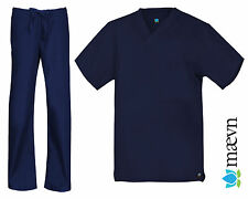 MAEVN MEDICAL SCRUBS UNISEX NAVY SET (NEW, SIZES XXS -2XL)