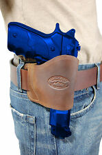 Barsony Brown Leather Yaqui Gun Holster for Browning, Colt 9mm 40 45 Full Size